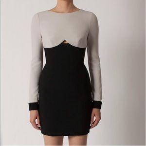 Black Halo Pia Color block Mini Dress